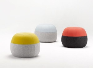 Adorable. The Coco Flip 'Puku' ottoman in gorgeous brights and pastels with a choice of pale or dark grey bottom.
