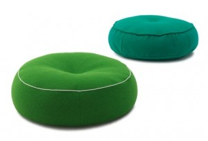 Jardan Alby floor cushion, available in a variety and leather