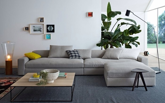 Seamless space where all pieces sit on the rug