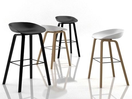 About A Stool - timber legs