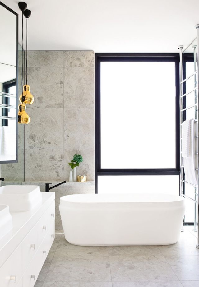Porcelain bathroom by Mim Design. Photography by Derek Swalwell.