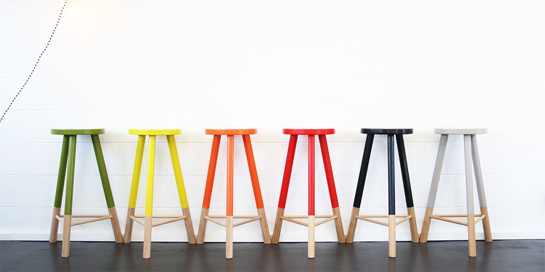 Babanees stools available in a range of brights and pastels