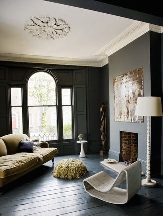 Queen of colour and darkness: Abigail Ahern's East London home showcases period details beautifully