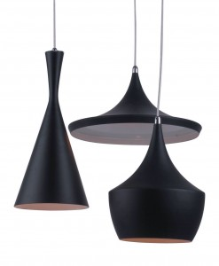 Tom Dixon 'Beat' range is perfect for staggered feature lighting