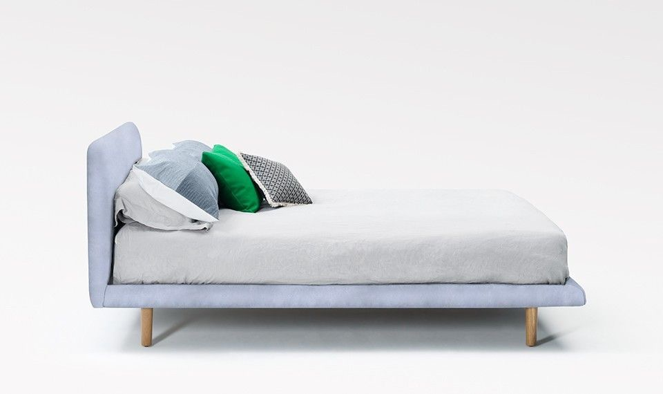 With its minimalist design, the Jardan Nook bed has a floating appearance