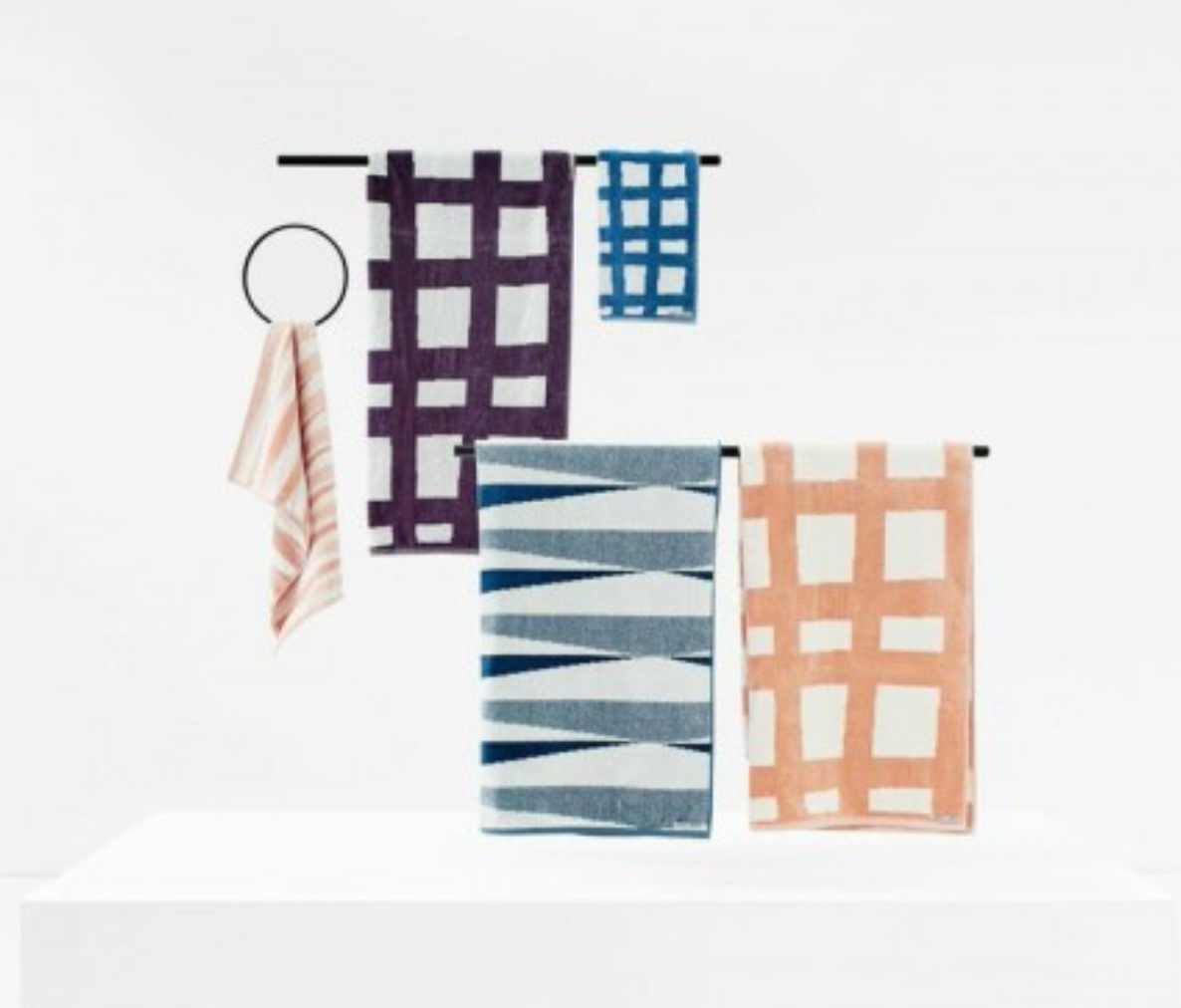 The Indie Buoy and Sea Tangle towels by Kate & Kate in 100% cotton.