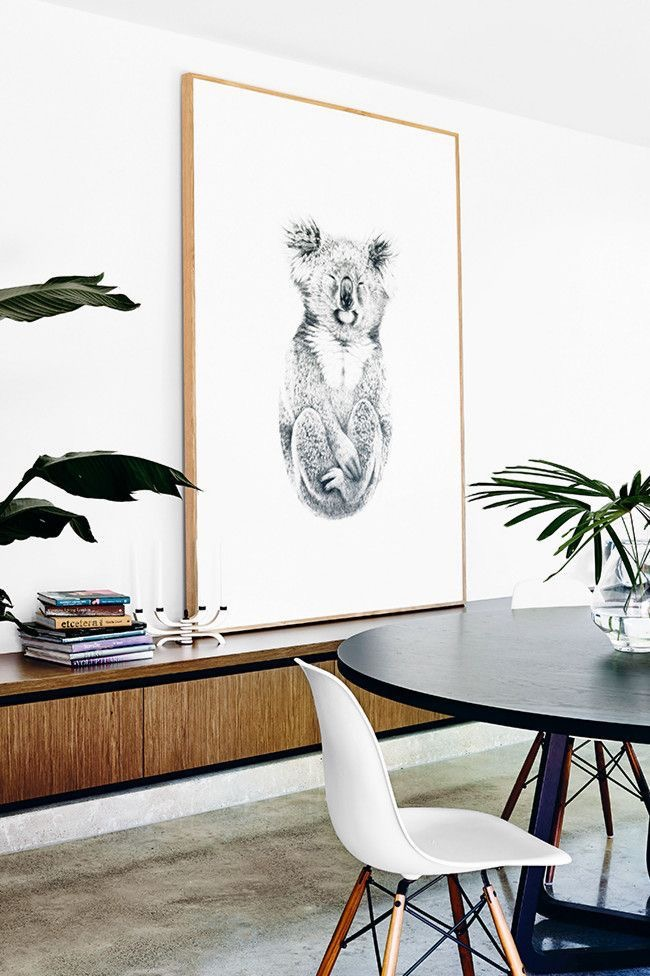 Amazing oversized Koala drawing 'The Alchemist' by artist Carla Fletcher
