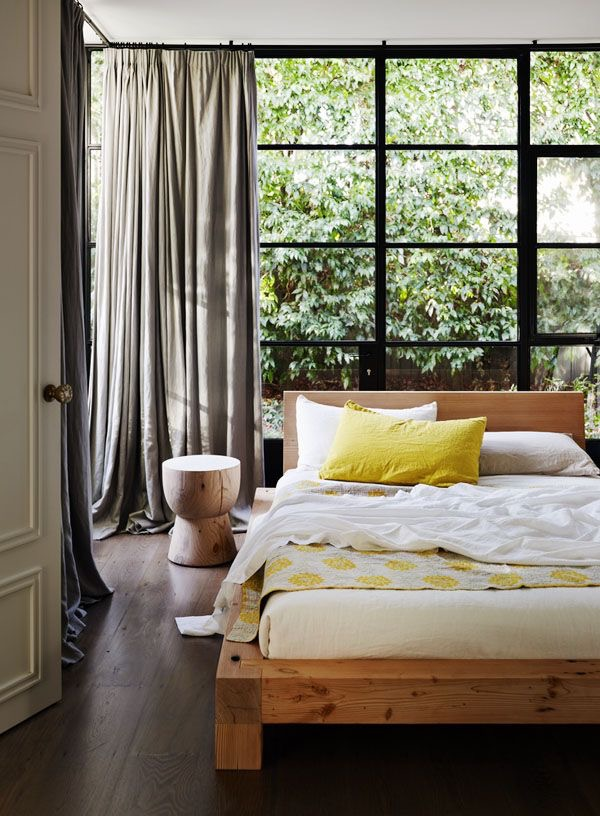 So very Australian. I absolutely love this bedroom setting created by Louella Tuckey, using the Mark Tuckey Eggcup stool.