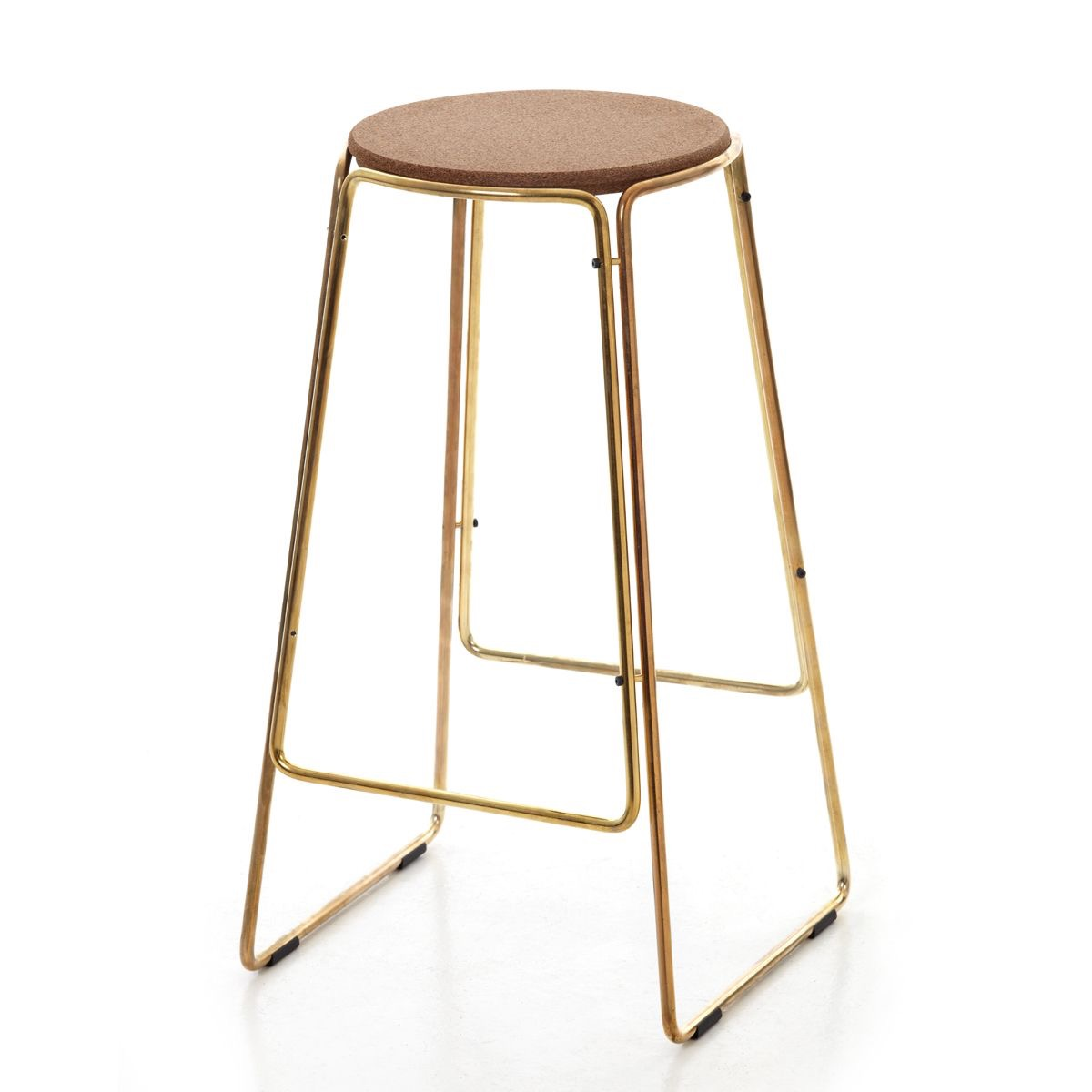 Smed stool in  brass. Available from Great Dane.