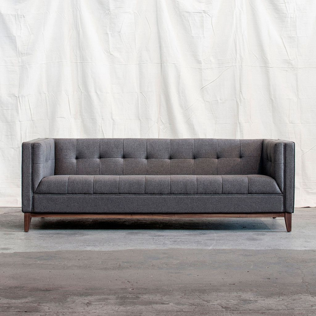 The Gus Atwood sofa from Globewest is a stylish option where sitting rather than lounging is the main function.