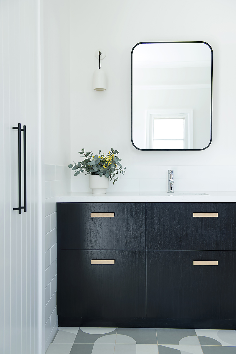Q: What are some of the latest finishes we're seeing in bathroom design?